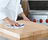 chopping and cutting board cleaning and care