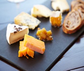 Food sharing cheese platter