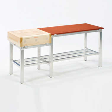 Meat Preparation Table – Alloy with Wood & Polyethylene Image